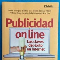 Libros de segunda mano: PUBLICIDAD ONLINE. LAS CLAVES DEL EXITO EN INTERNET. ESIC. DANIEL RODRIGUEZ DEL PINO. 2014.. Lote 141546418
