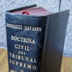 Libros de segunda mano: DOCTRINA CIVIL DEL TRIBUNAL SUPREMO IV -- ARTÍCULOS 1445 A 1976 -- EDITORIAL AGUILAR 1951. Lote 141600934