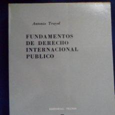 Livros em segunda mão: FUNDAMENTOS DE DERECHO INTERNACIONAL PÚBLICO. ANTONIO TRUYOL. Lote 142037730