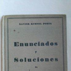 Libros de segunda mano: ENUNCIADOS Y SOLUCIONES DE PROBLEMAS DE CONTABILIDAD. Lote 142195318