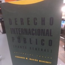 Libros de segunda mano: DERECHO INTERNACIONAL PÚBLICO PARTE GENERAL FERNANDO M.MARIÑO 4 EDICION REVISADA. Lote 142252212
