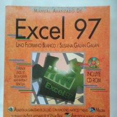Libros de segunda mano: MANUAL AVANZADO DE EXCEL 97 CON CD ROM, LINO FLORIANO BLANCO Y SUSANA GALAN GALAN, ANAYA 1997, LIBRO. Lote 142487434