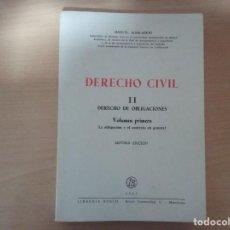 Libros de segunda mano: DERECHO CIVIL II. DERECHO DE OBLIGACIONES. LA OBLIGACIÓN Y EL CONTRATO EN GENERAL-MANUEL ALBALADEJO. Lote 142693306
