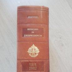 Libros de segunda mano: ARANZADI REPERTORIO DE JURISPRUDENCIA 1982. Lote 142868866