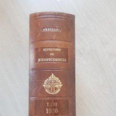 Libros de segunda mano: ARANZADI REPERTORIO DE JURISPRUDENCIA 1986. Lote 142868926
