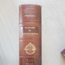 Libros de segunda mano: ARANZADI REPERTORIO DE JURISPRUDENCIA 1986. Lote 142868970
