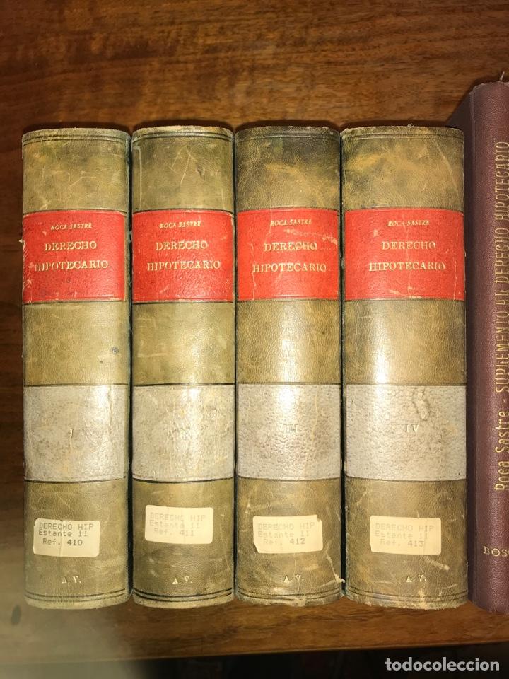 DERECHO HIPOTECARIO, RAMÓN MARÍA ROCA SASTRE (4 VOLÚMENES + SUPLEMENTO) (Libros de Segunda Mano - Ciencias, Manuales y Oficios - Derecho, Economía y Comercio)