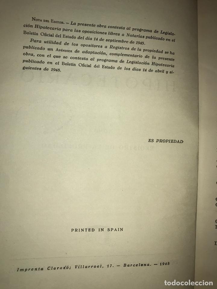 Libros de segunda mano: Derecho hipotecario, Ramón María Roca Sastre (4 volúmenes + Suplemento) - Foto 3 - 142903140