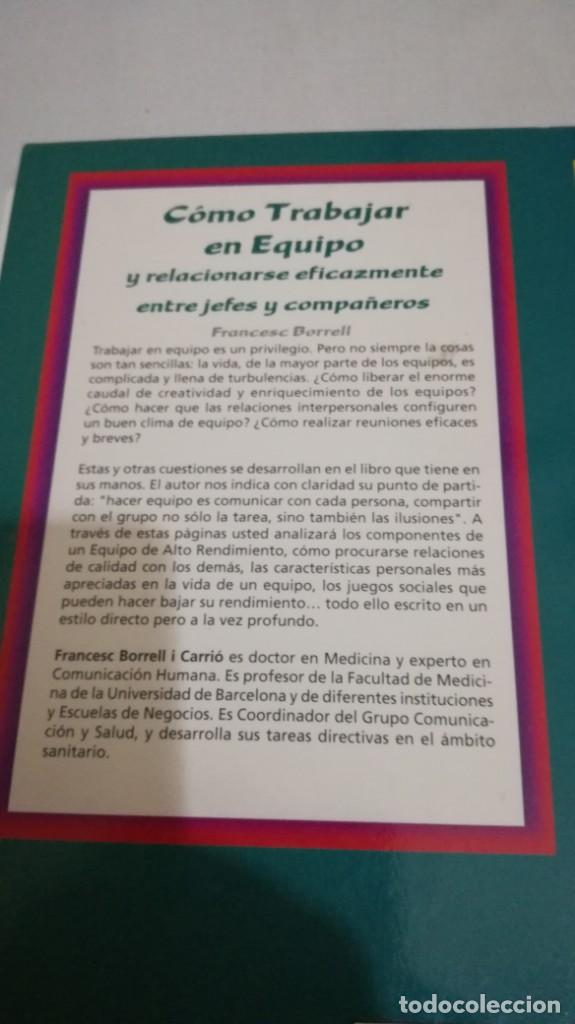 Libros de segunda mano: COMO TRABAJAR EN EQUIPO - FRANCESC BORRELL - Foto 3 - 143773930