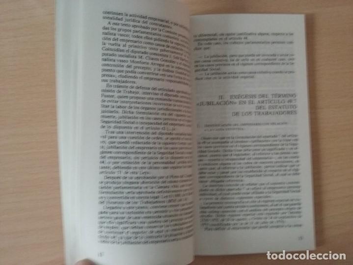 Libros de segunda mano: JUBILACIÓN DEL EMPRESARIO COMO CAUSA DE EXTINCIÓN DEL CONTRATO DE TRABAJO - AGNES PARDELL - Foto 2 - 144534734
