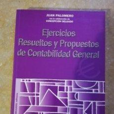 Libros de segunda mano: EJERCICIOS RESUELTOS Y PROPUESTOS DE CONTABILIDAD GENERAL (JUAN PALOMERO). Lote 144614894