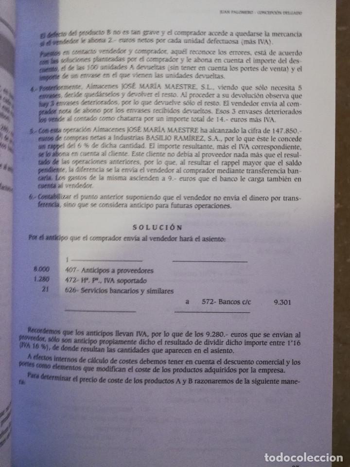 Libros de segunda mano: EJERCICIOS RESUELTOS Y PROPUESTOS DE CONTABILIDAD GENERAL (JUAN PALOMERO) - Foto 4 - 144614894