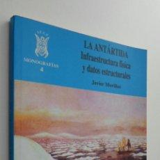 Libros de segunda mano: LA ANTÁRTIDA. INFRAESTRUCTURA FÍSICA Y DATOS ESTRUCTURALES - MORILLAS, JAVIER. Lote 145031589
