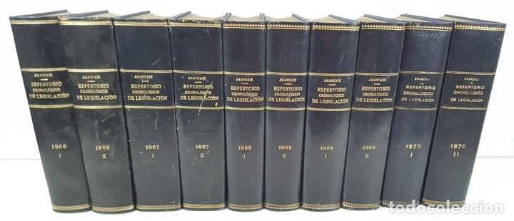 Libros de segunda mano: REPERTORIO CRONOLÓGICO DE LEGISLACIÓN. 38 TOMOS. EDIT ARANZADI. PAMPLONA. 1966/ 1986. - Foto 2 - 145509826