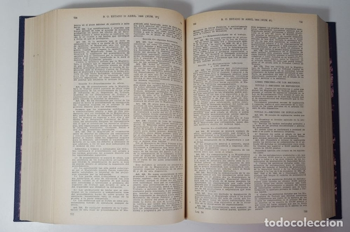 Libros de segunda mano: REPERTORIO CRONOLÓGICO DE LEGISLACIÓN. 38 TOMOS. EDIT ARANZADI. PAMPLONA. 1966/ 1986. - Foto 6 - 145509826