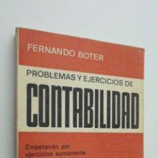 Libros de segunda mano: PROBLEMAS Y EJERCICIOS DE CONTABILIDAD - BOTER MAURI, FERNANDO. Lote 145724174