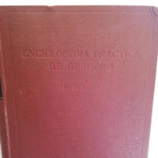 Libros de segunda mano: BJS.MIGUEL FENECHI.ENCICLOPEDIA PRACTICA DE DERECHO.VOL I.EDT, LABOR... Lote 146251730