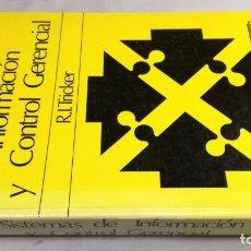 Libros de segunda mano: SISTEMAS DE INFORMACIÓN Y CONTROL GERENCIAL - R. I. TRICKER. Lote 146619810
