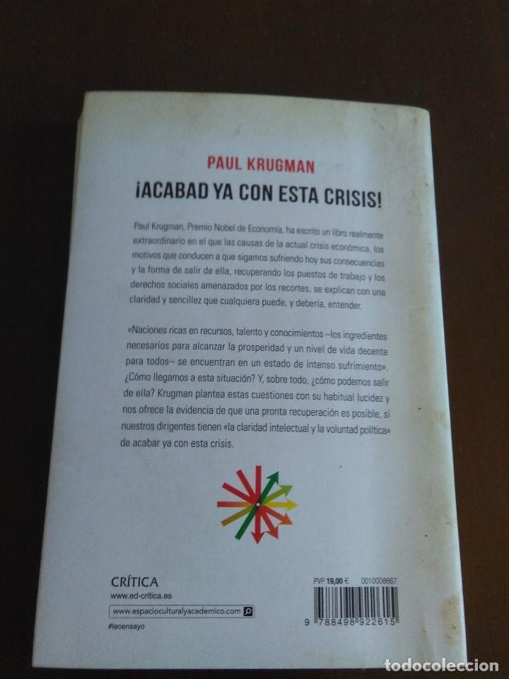 Libros de segunda mano: ¡Acabad ya con esta crisis! Paul Krugman - Foto 2 - 222456525