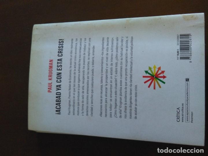 Libros de segunda mano: ¡Acabad ya con esta crisis! Paul Krugman - Foto 3 - 222456525
