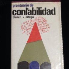 Libros de segunda mano: PRONTUARIO DE CONTABILIDAD,BLASCO & ORTEGA,AÑO 1967.. Lote 147278308