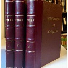 Libros de segunda mano: REPERTORIO DE VOCES Y GIROS DEL CODIGO CIVIL CHILENO. EL LÉXICO DEL CÓDIGO CIVIL EN ORDENAMIENTO ANA. Lote 147284320