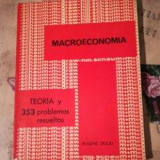 Libros de segunda mano: MACROECONOMÍA. TEORÍA Y 353 PROBLEMAS RESUELTOS - EUGENEN DIULIO - 1976. Lote 147310646