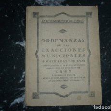 Libros de segunda mano: ORDENANZAS DE LAS EXACCIONES MUNICIPALES DE 1942 AYUNTAMIENTO DE SORIA . Lote 147316234