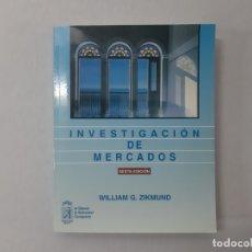 Libros de segunda mano: INVESTIGACIÓN DE MERCADOS - WILLIAM G. ZIKMUND. Lote 147361236