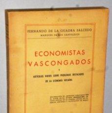 Libros de segunda mano: ECONOMISTAS VASCONGADOS. Lote 147623382