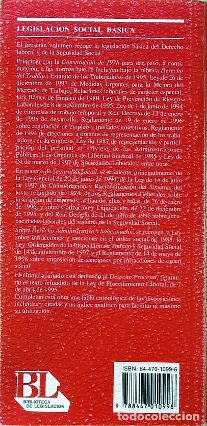 Libros de segunda mano: Legislación social básica - Foto 2 - 148347246