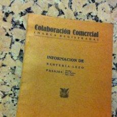 Libros de segunda mano: COLABORACION COMERCIAL. 1942. RENTERÍA-LEZO PASAJES. Lote 148567645