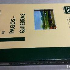Libros de segunda mano: SUSPENSION DE PAGOS Y QUIEBRAS/ JULIAN GONZALEZ PASCUAL. Lote 148980774