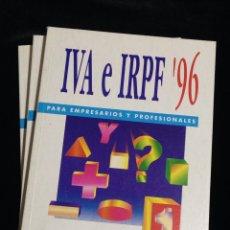 Libros de segunda mano: I.V.A E IPRF '96,PARA EMPRESARIOS Y PROFESIONALES,COOPERS & LYBRAND,EXPANSION.-3 TOMOS.. Lote 149233537
