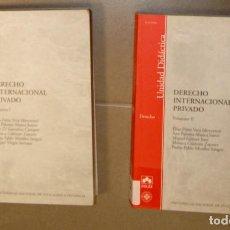 Libros de segunda mano: DERECHO INTERNACIONAL PRIVADO UNED. Lote 150347774