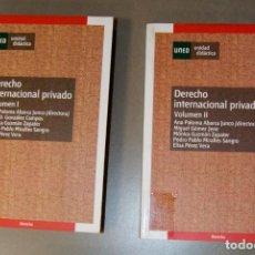 Libros de segunda mano: DERECHO INTERNACIONAL PRIVADO VOL. 1 Y 2 UNED . Lote 150351046