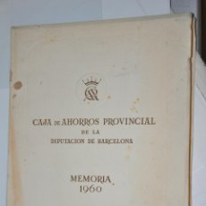Libros de segunda mano: MEMORIA CAJA DE AHORROS PROVINCIAL BARCELONA, VER TARIFAS ECONOMICAS ENVIOS. Lote 150962042