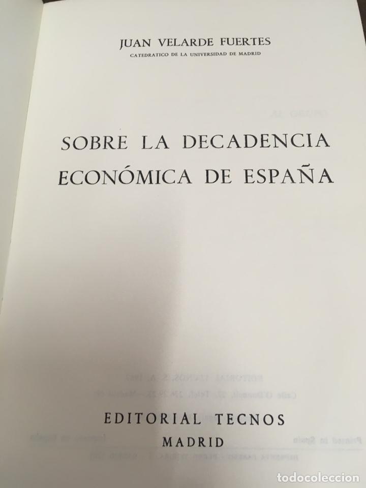 Libros de segunda mano: Sobre la decadencia económica de España por Juan Velarde Fuertes - Foto 7 - 150986414
