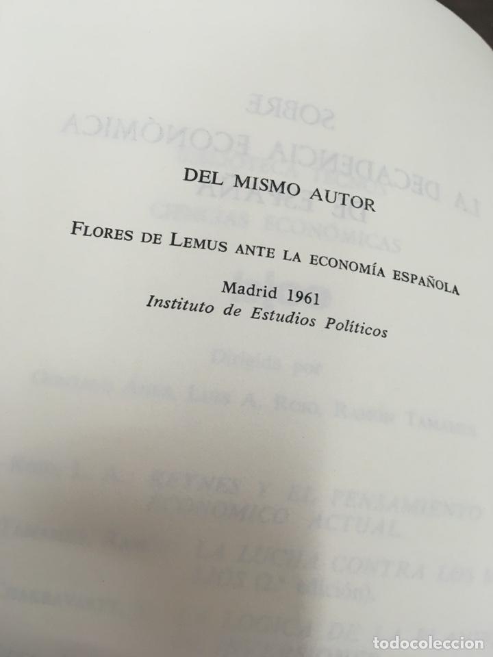 Libros de segunda mano: Sobre la decadencia económica de España por Juan Velarde Fuertes - Foto 8 - 150986414