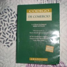 Libros de segunda mano: CÓDIGO DE COMERCIO Y OTRAS NORMAS MERCANTILES;MªDEL CARMEN GARCÍA/F.J.MULERO/P.YANES,ARANZADI 1999. Lote 151394610