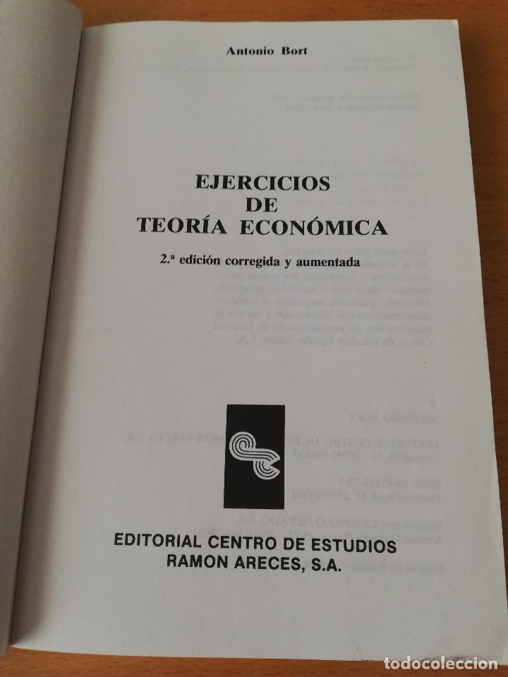 Libros de segunda mano: EJERCICIOS DE TEORÍA ECONÓMICA. VOLUMEN II (ANTONIO BORT) EDITORIAL CENTRO DE ESTUDIOS RAMÓN ARECES - Foto 2 - 151589162