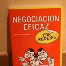 Libros de segunda mano: NEGOCIACIÓN EFICAZ FOR ROOKIES. Lote 151907038