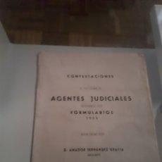 Libros de segunda mano: CONTESTACIONES , AGENTES JUDICIALES 1955 - ACADEMIA CABALLERO. Lote 153107121