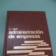 Libros de segunda mano - BIBLIOTECA PARA DIRECCIÓN DE EMPRESAS. Nº 6. MADRID.L. HALL. ADMINISTRACIÓN DE EMPRESAS. 1982 - 153469194