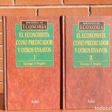 Libros de segunda mano: GEORGE J. STIGLER: EL ECONOMISTA COMO PREDICADOR Y OTROS ENSAYOS. Lote 153961110