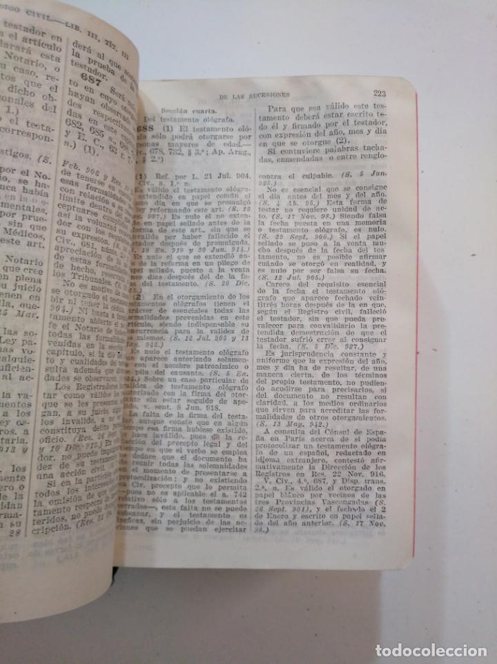 Libros de segunda mano: LEYES CIVILES DE ESPAÑA. - MEDINA Y MARAÑON - INSTITUTO EDITORIAL REUS -. 1943. 2 TOMOS. TDK374 - Foto 4 - 154670794