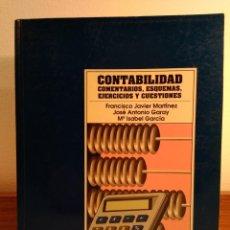 Libros de segunda mano: CONTABILIDAD. COMENTARIOS, ESQUEMAS, EJERCICIOS Y CUESTIONES. PIRÁMIDE, 1995. ISBN 8436809122. Lote 154860158