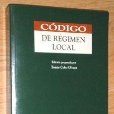 Libros de segunda mano: CÓDIGO DE RÉGIMEN LOCAL POR TOMÁS COBO OLVERA DE ED. THOMSON / ARANZADI EN NAVARRA 2005 5ª EDICIÓN. Lote 154926034