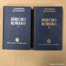Libros de segunda mano: DERECHO ROMANO (2 TOMOS). J. ARIAS RAMOS Y J.A. ARIAS BONET. ED. REVISTA DE DERECHO PRIVADO (1977).. Lote 155475586