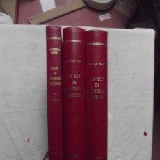 Libros de segunda mano: LA LEY DE SOCIEDADES ANONIMAS Y SU INTERPRETACION POR EL TRIBUNAL SUPREMO DE CABRERA GIRAL 2 TOMOS. Lote 155502254